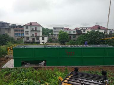 生活污水處理設備調試現場