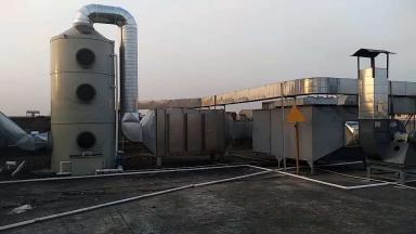 東莞XX電子公司噴淋吸附塔設備