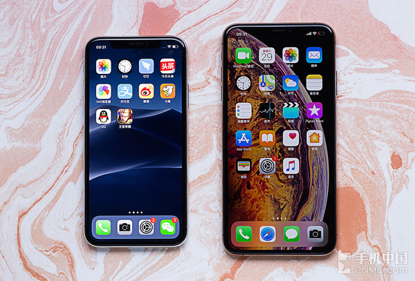 iPhone X与iPhone XS Max